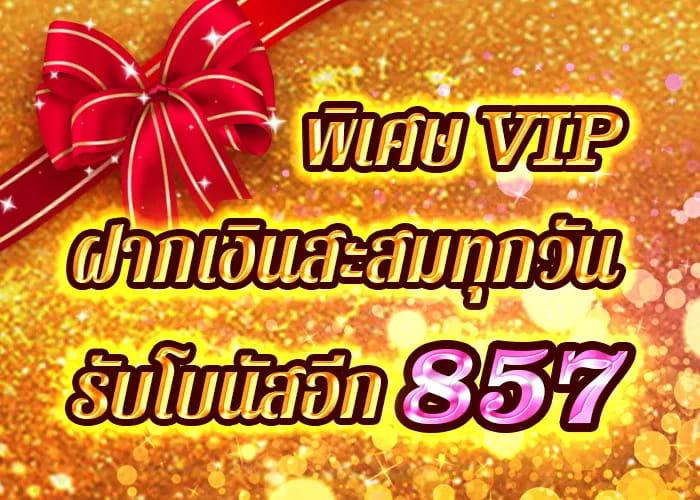 VIP โปรโมชั่นฝากเงิน HUC99
